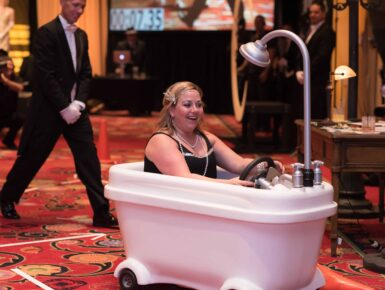 Great Gatsby Themed Activation Game bathtub gin racers.